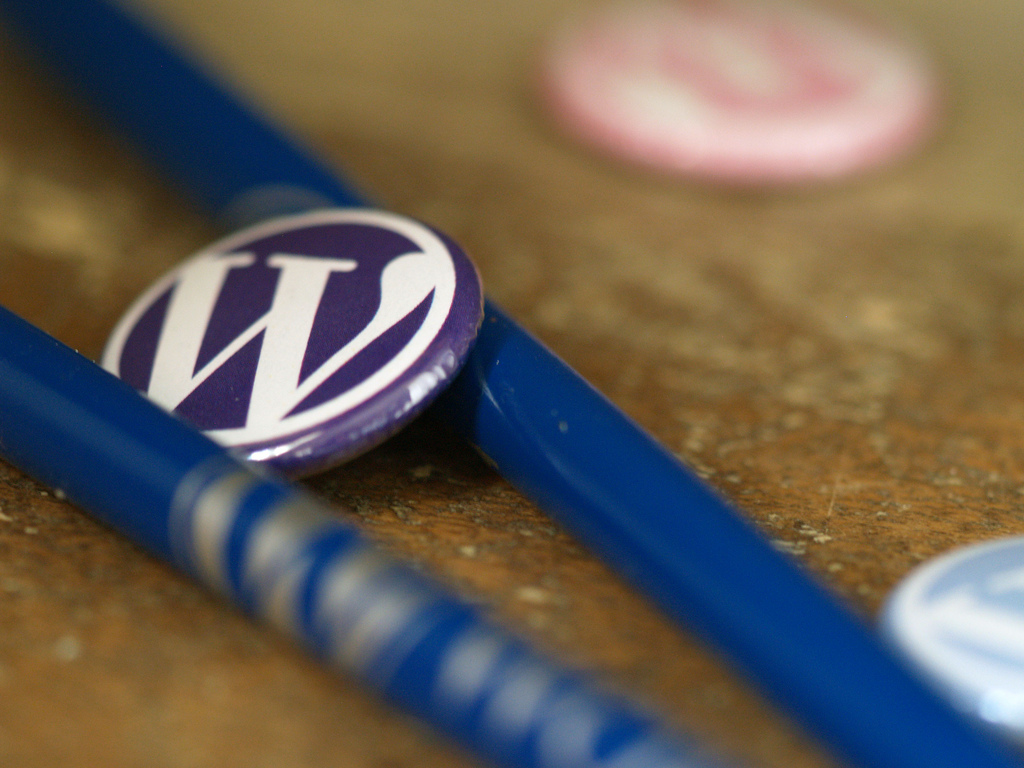 WordPress Pencil and Pins - photo by Christopher Ross