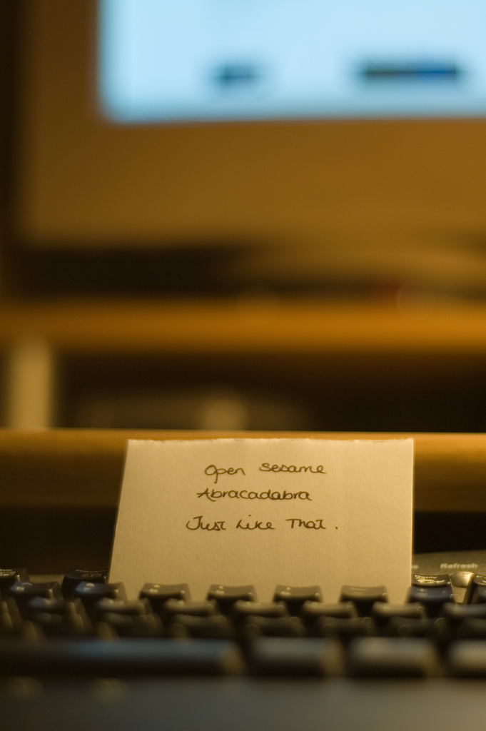 keyboard - password - abracadabra - open sesame - photo by Jonathan_W